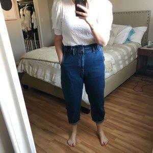 Zara Jeans with Paper Bag Waist
